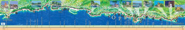 Opatija - Lungomare Karte