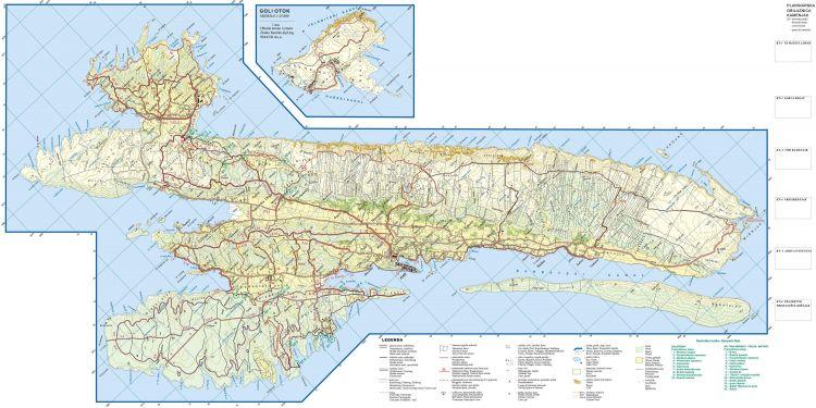 Wanderkarte Insel Rab - Wander- und Trekkingwege