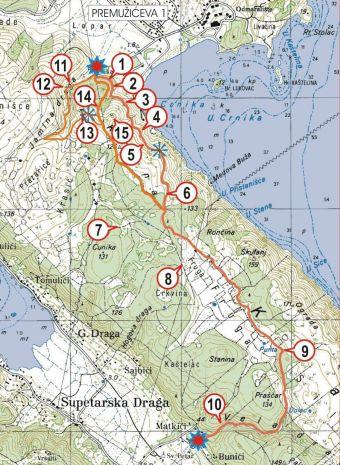 Insel Rab - Wanderweg Premuziceva 1