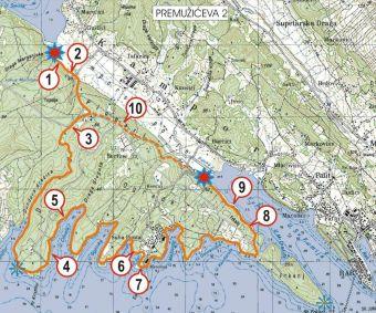 Insel Rab - Wanderoute Premuziceva 2