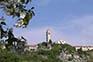 Blick vom Tal auf Kastav