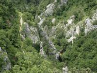 Fluss Rjecina, Schlucht