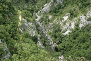 Schlucht und Fluss Rjecina
