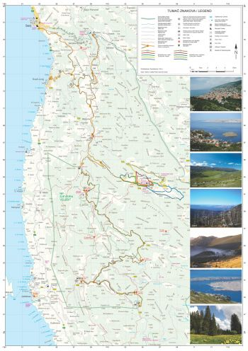 Nationalpark Nord Velebit - Karte