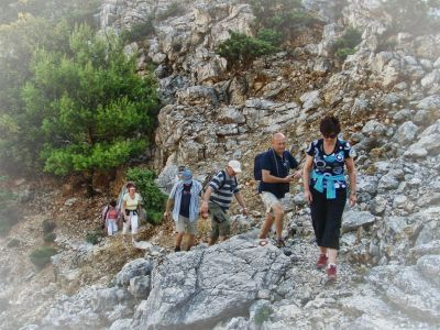 Wandergruppe auf der Insel Rab