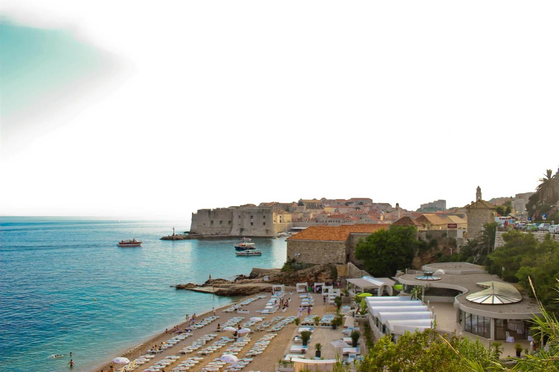 Strand Banje Dubrovnik Kroatien Strande