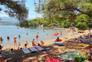 Natürlicher Schatten - Strand Soline