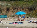 Touristen am Strand Vela Przina