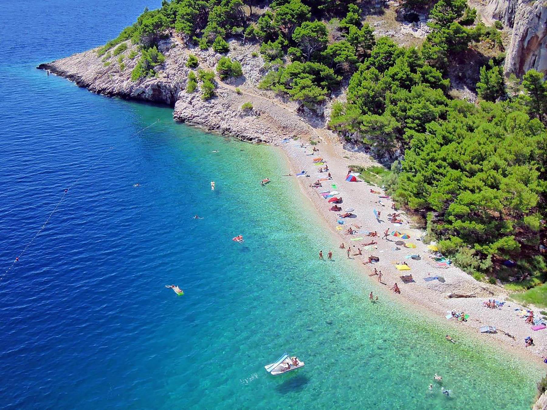 Макарска Хорватия FKK Nugal Beach - YouTube