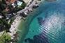 Luftaufnahme Strand Strijezice mali - Mlini