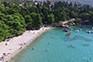 Strand Srebreno - Schatten & Tretboote