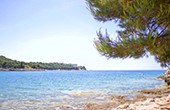 Panorama Meer und Verudela Halbinsel