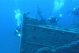 Taucher in Kroatien bei Schiffwrack