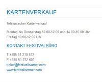 Festival Kvarner - Ticketpreise