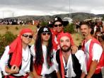 Verkleidete Gruppen beim Sommerkarneval