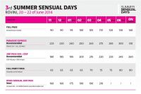 Summer Sensual Days Rovinj - Tickets & Preise