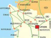 Trüffeltage Livade - Anreise Karte