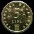 5 Lipa Münze Vorderseite