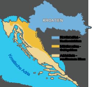 Klimazonen in Kroatien