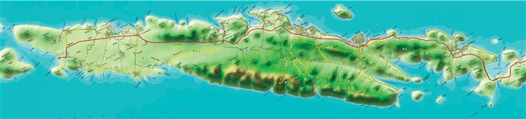 Karte der Insel Ugljan