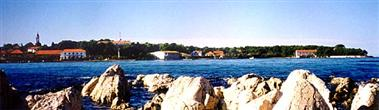 Panoramaansicht der Küste