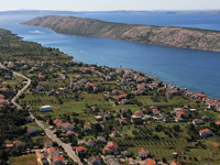 Der Ort Barbat auf der Insel Rab