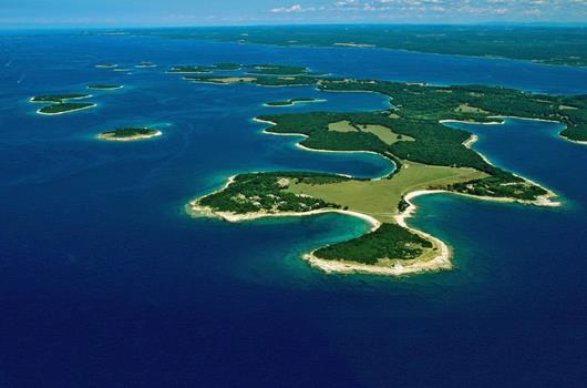Nationalpark Brijuni - Panorama Inselarchipel Brijuni