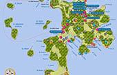 Nationalpark Brijuni - Übersichtskarte Veli Brijun
