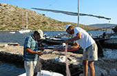 Fischer im Nationalpark Kornati