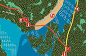 Nationalpark Krka - Karte Roski slap Wasserfall