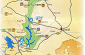 Nationalpark Krka - Übersichtskarte