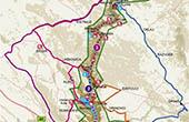 Nationalpark Krka - Übersichtskarte mit GPS-Daten