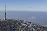 Blick Bergspitze Medvednica