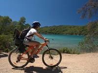Fahrradfahren im Nationalpark Mljet