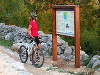 Fahrradfahren im Nationalpark Paklenica