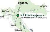 Nationalpark Plitvicer Seen - Karte Entfernungen