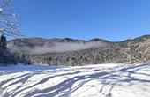 Schnee im Nationalpark Risnjak, Kroatien
