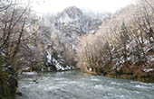 Fluss Kupa im Winter, Nationalpark Risnjak