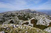 Blick auf das Gebirge, Naturpark Biokovo