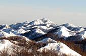 Weiße Winterlandschaft im Naturpark Biokovo