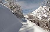 Verschneite Wanderwege, Naturpark Biokovo