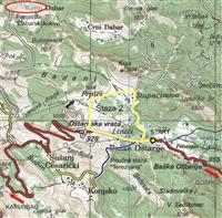 Mountainbike-Routen im Mittleren Velebit
