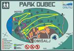 Njivice - Karte des Naturparks Dubec