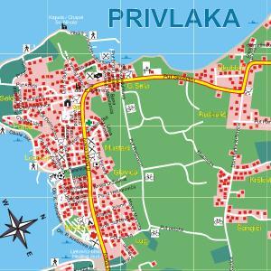 Stadtplan von Privlaka