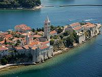 Die Stadt Rab in Kroatien