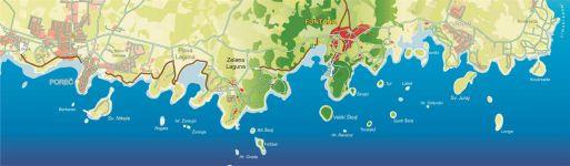 Karte Riviera Funtana
