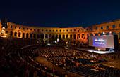 Filmfestival in der Arena von Pula