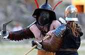 Gladiatorenkampf in Pula, Kroatien