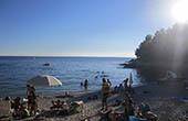 Strand in Pula, Kroatien