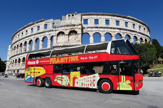 Pula City Tour Bus Amphitheater